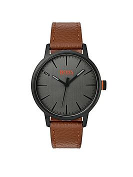hugo-orange-copenhagen-grey-dial-brown-strap-mens-watch