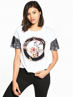 river-island-river-island-printed-t-shirt-with-sequin-sleeves