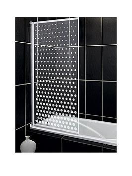 aqualux-aqua-3-bath-screen-with-spotted-glass-pattern
