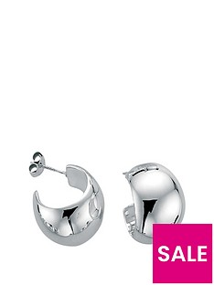 the-love-silver-collection-sterling-silver-wide-domed-hoop-earring