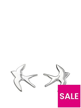 the-love-silver-collection-sterling-silver-swallow-stud-earrings