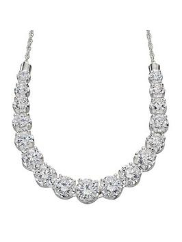 the-love-silver-collection-sterling-silver-graduated-cz-necklace