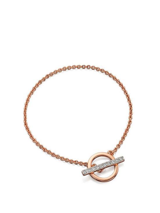 Fiorelli Jewellery Rose Gold Plated Swarovski T-Bar Bracelet  0aece1bbb1