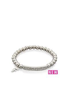 fiorelli-jewellery-paveacute-silver-bead-stretch-bracelet