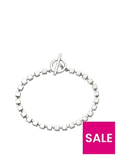 the-love-silver-collection-sterling-silver-cube-design-t-bar-bracelet