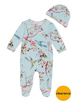 baker-by-ted-baker-baby-girls-floral-sleepsuit-amp-hat