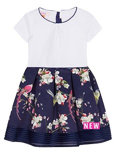 baker-by-ted-baker-girls039-navy-floral-print-dress