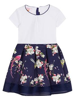 baker-by-ted-baker-girls039-navy-floral-print-dress