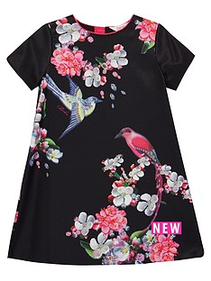 baker-by-ted-baker-girls-floral-print-pleated-back-shift-dress