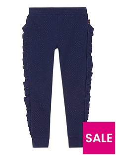 baker-by-ted-baker-girls039-navy-frill-trim-trousers