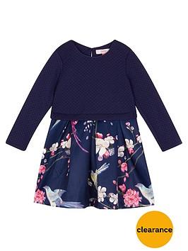 baker-by-ted-baker-girls039-navy-floral-mock-skirt-dress