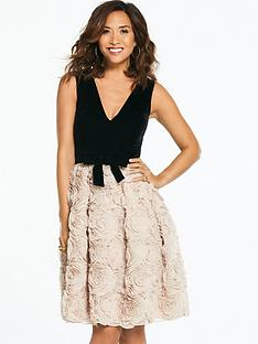 myleene-klass-velvet-top-textured-prom-dress-blacknude
