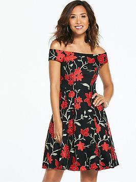 Myleene Klass Embroidered Lace Prom Dress