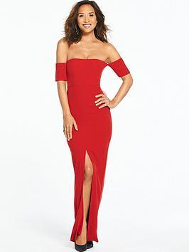 Myleene Klass Bardot Split Maxi Dress
