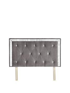michelle-keegan-home-mirage-fabric-mirrored-headboard