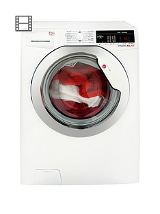 Hoover Dynamic Next WDXOA485C 8kg Wash, 5kg Dry, 1400 Spin Washer Dryer with One Touch - White/Chrome