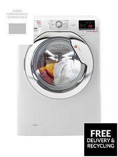 Hoover Dynamic Next WDXOA686C 8kg Wash, 6kg Dry, 1600 Spin Washer Dryer with One Touch - White/Chrome