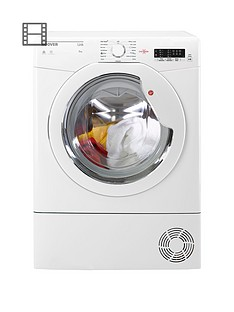 Hoover Link HLC8LG 8kg Load Condenser Sensor Tumble Dryer with One Touch - White