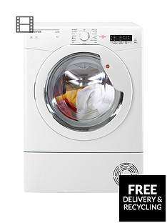 Hoover Link HLC8LG 8kgLoad Condenser Tumble Dryer with One Touch - White