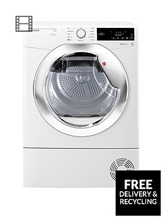 hoover-dynamic-next-dxc9tce-9kg-load-aquavision-condenser-tumble-dryer-with-one-touch-whitechrome