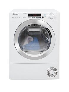 Candy Grand O Vita Smart GVSH9A2DCE 9kg Load, Heat Pump Tumble Dryer - White/Chrome