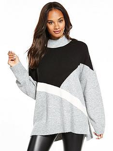 v-by-very-colour-block-stepped-hem-tunic