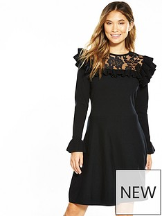 v-by-very-lace-yoke-ruffle-detail-knit-dress