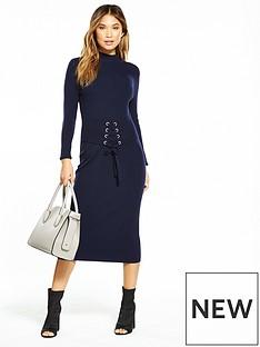 v-by-very-corset-belt-ribbed-midi-knit-dress