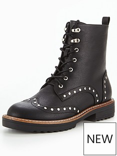 glamorous-stud-lace-up-boot