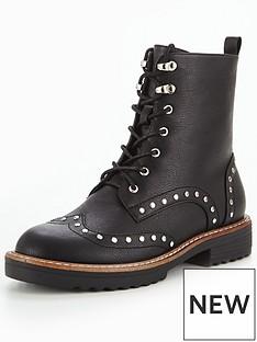 glamorous-stud-lace-up-boot