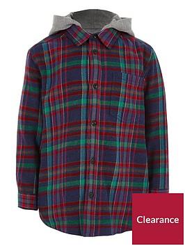 river-island-boys-navy-multicolour-check-hooded-shirt