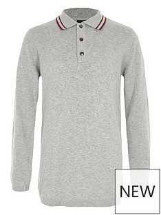 river-island-boys-grey-tipped-collar-knit-polo-shirt