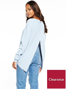 v-by-very-twist-open-back-detail-fisherman-rib-jumper
