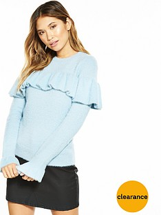 v-by-very-frill-detail-fluted-cuff-fluffy-jumper