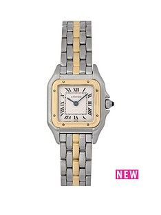 cartier-cartier-pre-owned-ladies-bimetal-panthere-1-row-quartz-watch-off-white-dial-ref-1057917