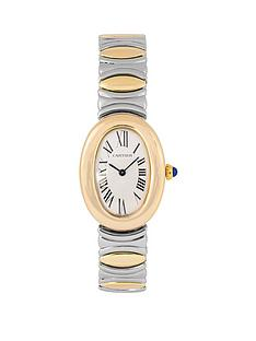cartier-cartier-pre-owned-ladies-steel-baignoire-watch-silver-dial-ref-8057910