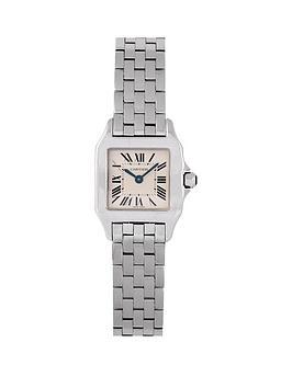 cartier-cartier-pre-owned-ladies-steel-santos-demoiselle-watch-off-white-dial-ref-2698