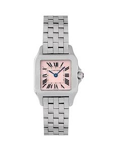 cartier-cartier-pre-owned-ladies-steel-santos-demoiselle-watch-mother-of-pearl-dial-ref-2698