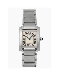 cartier-cartier-pre-owned-ladies-stainless-steel-tank-francaise-off-white-dial-watch-ref-2384