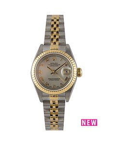 rolex-rolex-pre-owned-ladies-bimetal-datejust-watch-mop-roman-numeral-dial-reference-69173
