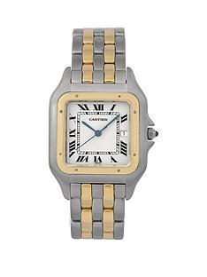 cartier-cartier-pre-owned-gents-jumbo-bimetal-panthere-2-row-watch-off-white-dial-ref-187957