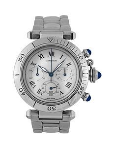cartier-cartier-pre-owned-gents-steel-pasha-chronograph-watch-off-white-dial-ref-1050