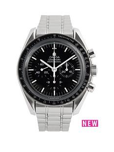 omega-omega-pre-owned-gents-steel-speedmaster-mechanical-watch-black-dial-ref-359050