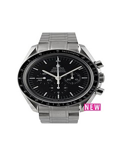 omega-omega-pre-owned-gents-steel-speedmaster-mechanical-watch-black-dial-ref-357050