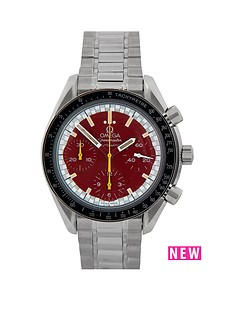 omega-omega-pre-owned-gents-steel-speedmaster-reduced-schumacher-edition-watch-whitered-dial-ref-1750032