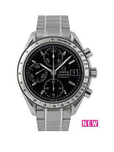 rolex-omega-pre-owned-gents-steel-speedmaster-reduced-date-watch-black-dial-ref-351313
