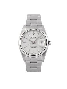 rolex-rolex-pre-owned-oyster-perpetual-date-watch-silver-dial-ref-15000