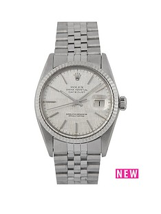 rolex-rolex-pre-owned-gents-stainless-steel-datejust-watch-silver-039linen039-baton-dial-reference-16014