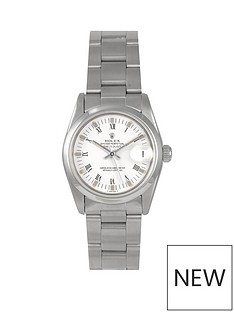 rolex-rolex-pre-owned-midsize-steel-datejust-watch-white-roman-numeral-dial-reference-68240