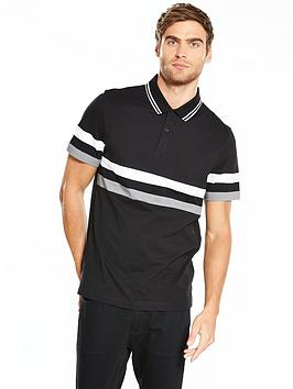 v-by-very-colour-block-jersey-striped-polo